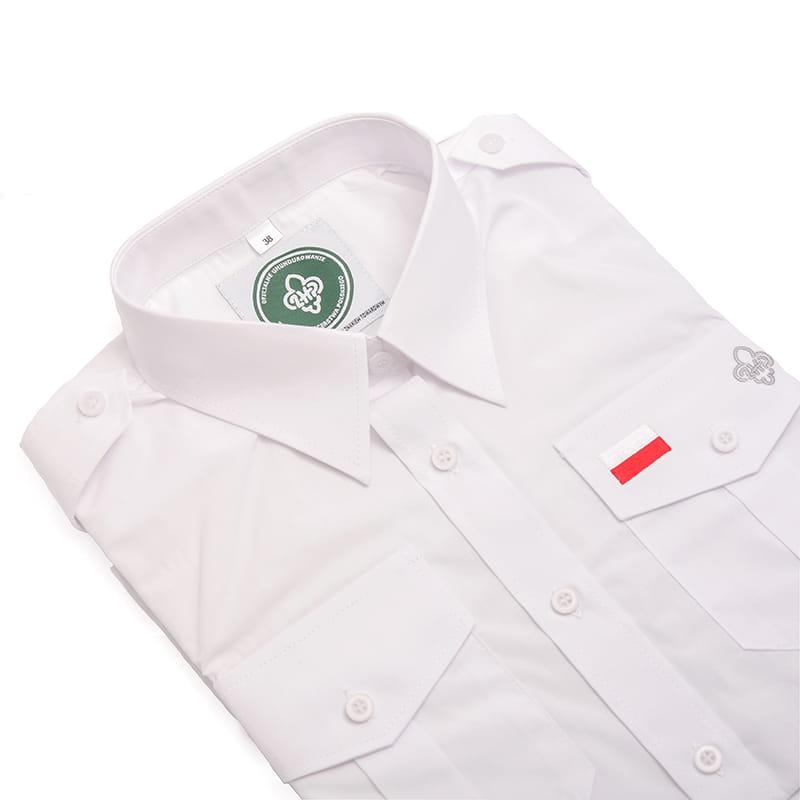 51239a04aaa23d Żeglarska koszula męska instruktorska biała Centralna Składnica ...