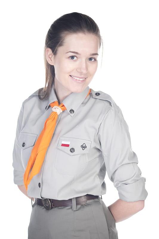 e8c833953d758d ... Mundur harcerski ZHP / Bluza harcerska / Koszula mundurowa damska ZHP  ...