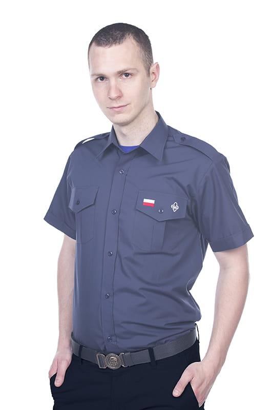 ff0a5dd2ca19da Żeglarska koszula męska instruktorska granatowa Centralna Składnica ...